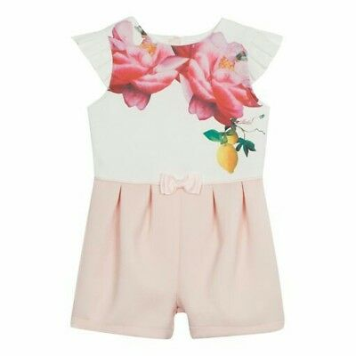 BNWT - Ted Baker girls' floral print playsuit, 3-4 years