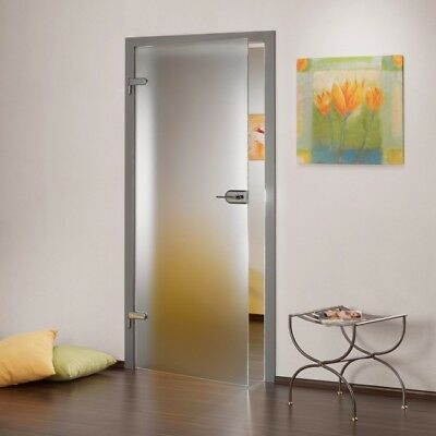 Opque Full Interior Swing Glass Door  with Hardware & Frosted Design