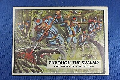 1962 Topps Civil War News - #73 Through The Swamp - Excellent+++ Condition