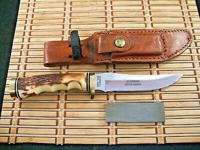 Vintage Schrade+ Usa Uncle Henry 153Uh Golden Spike Fixed Blade Hunting Knife