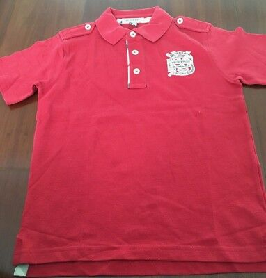 NEW BURBERRY polo T-shirt AUTHENTIC 6Y 6 years red NWT
