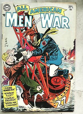 All-American Men Of War #15-1954 fn- Jerry Grandenetti