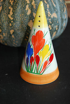 Superb Art Deco Clarice Cliff  CROCUS pattern  SUGAR SIFTER  by MOORLAND
