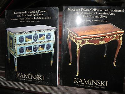 Kaminski Auction Catalogue European, Persian, American LaJolla Nov 2010 2 Days