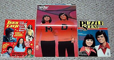 DONNY & MARIE OSMOND 3pc 1977 Magazine Lot Teen Talk Beat Puzzle Scene