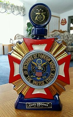 "1973 ""Veterans of Foreign Wars"" Ezra Brooks decanter"