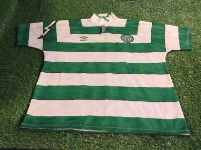 celtic scotland football large mans rare vintage 1992-1993 sfl umbro home jersey