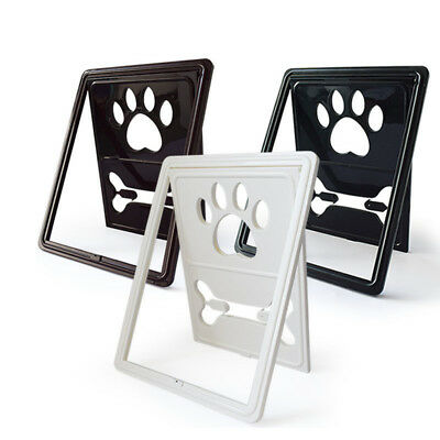 Pet Screen Door Rotary Dog Gate Way Pet Passage Screen Door with Snap Latch
