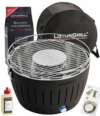 LotusGrill High Quality Portable Charcoal BBQ -Complete Lotus Grill Starter Pack