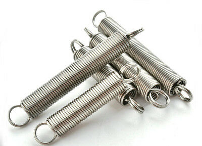 5Pcs 0.3mm Wire Diameter 3mm OD Extension Spring Stainless Steel Tension springs