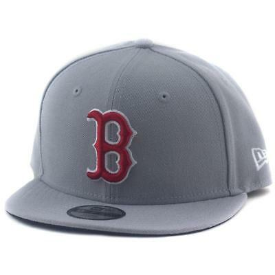 Youth Boston Red Sox New Era MLB 9Fifty Hat Genuine Baseball Cap In Grey