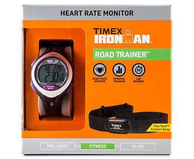 Timex Ironman Sports Trainer Digital Heart Rate Monitor HRM Chrono Watch 100M WR