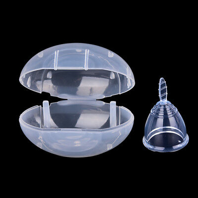Clear Menstrual Cups Female Reusable Medical Silicone Moon With Travel Case ATAU