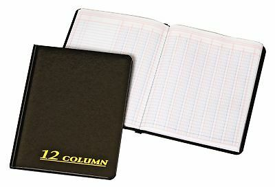 80 Pages Account Book 7 x 9.25 Inches Black 12 Columns Ledger Record Keeping