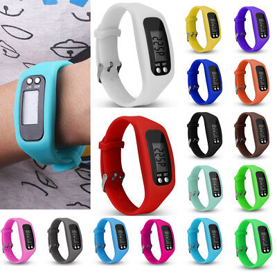 LCD Run Step Walk Watch Bracelet Pedometer Calorie Counter Distance Wrist Band