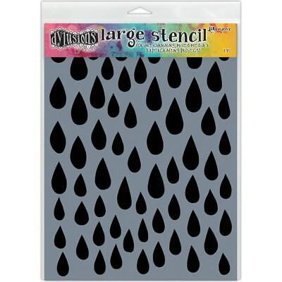 Dylusions Stencil - Large 9x12 - Raindrops