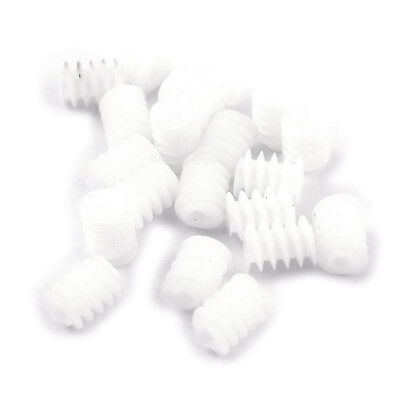 20 Pcs White Plastic Gear Worm Screws 6mmx8mm for RC DIY Model Toys C6G3