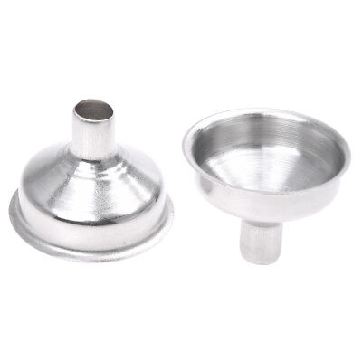 2Pcs Stainless Steel Hip Flask Funnel--Silver B4F2