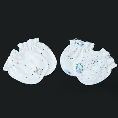 2 Pairs Unisex Newborn Baby Cotton Mittens Gloves Infant Anti-scratch Hand Guard