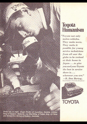 """1970 TOYOTA HUMANISM TRAINING AD A4 POSTER GLOSS PRINT LAMINATED 11.7""""x8.3"""""""