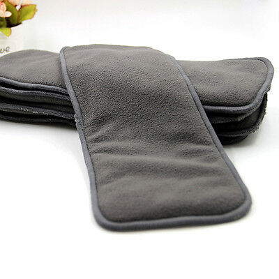 15 X Reusable 4 layers Charcoal Inserts Liner for modern cloth nappy