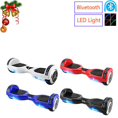 Bluetooth LED Smart Self Balancing Electric Scooter Skate Board Hover Board