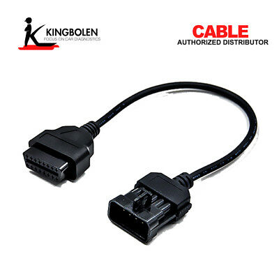 10 Pin OBD1 to 16 Pin OBD2 Connector Adapter Cable For Opel Vauxhall Car Cable