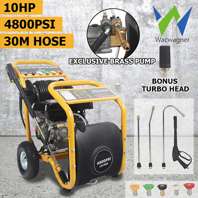 WACWAGNER 4800 PSI High Pressure Washer Water Cleaner Petrol Gurney 10HP 30M