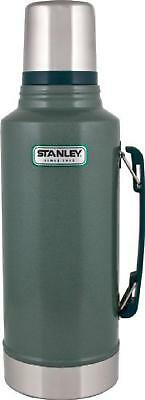 Coffee Thermos Vacuum Bottle Classic Stainless Steel Hammertone Green -2 Quart