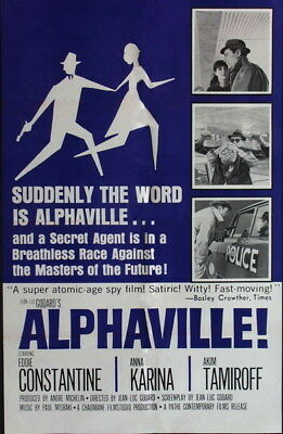 "003 Alphaville - Love Thriller 1965 USA Classic Movie 14""x21"" Poster"