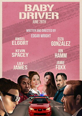 """012 Ansel Elgort - Baby Driver USA Movie Actor 14""""x19"""" Poster"""