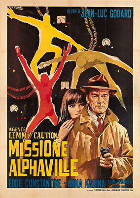 "006 Alphaville - Love Thriller 1965 USA Classic Movie 14""x19"" Poster"