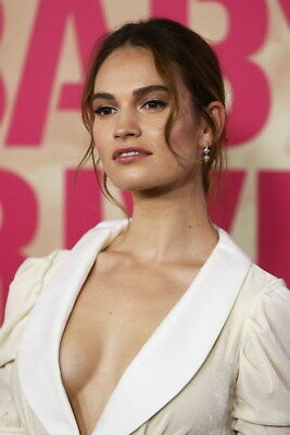 "002 Lily James - Beautiful Hot England Actor Star 24""x36"" Poster"