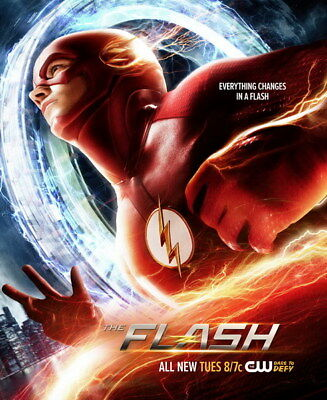 "078 The Flash - Justice League USA Hero Season 1 2 3 TV 24""x29"" Poster"