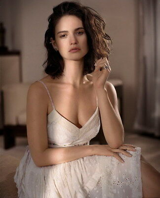"001 Lily James - Beautiful Hot England Actor Star 24""x29"" Poster"