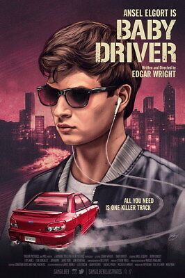 "004 Ansel Elgort - Baby Driver USA Movie Actor 24""x36"" Poster"