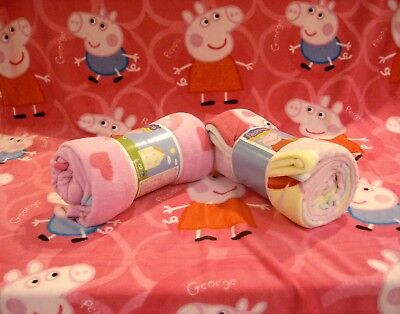 plaid pile peppa pig george morbido microfibra