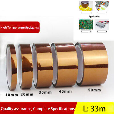 20/30/40/50 mm X 33M Kapton Tape High Temperature Heat Resistant Polyimide Film