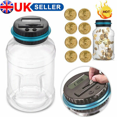 Digital Money Counting Electronic LCD Piggy Bank Coin Pound Savings Counter