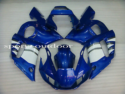White Blue Fairings For YAMAHA YZF R6 1998-2002 1999 2000 2001 Injection Mold