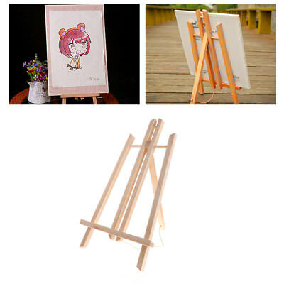 Wood Easel Advertisement Exhibition Display Holder Studio Painting Stand Shelf