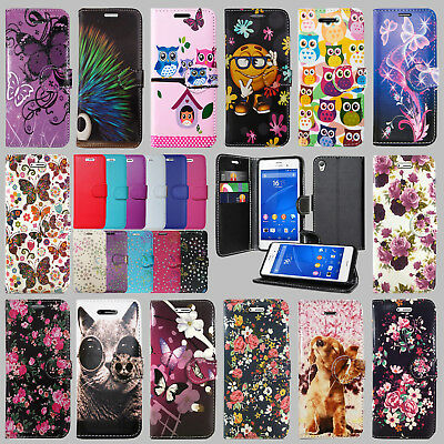For Sony Xperia Xz1 Compact Leather Wallet Book Flip Card Holder Phone Fone Case
