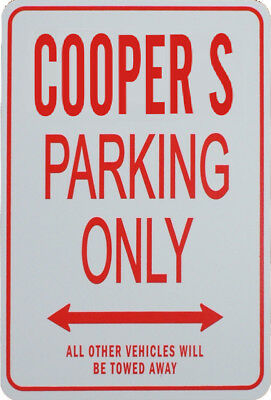 COOPER S PARKING ONLY - Miniature Fun Parking Sign