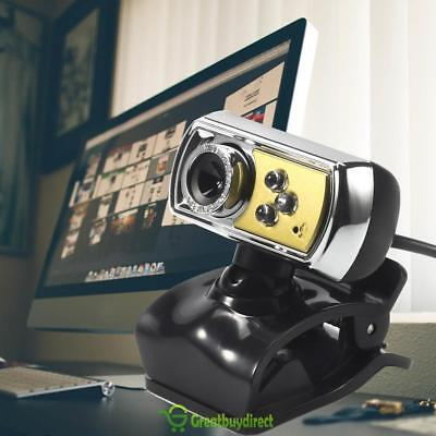 1.45 m HD 12.0MP 3 LED USB Webcam Camera with Mic & Night Vision for PC UK