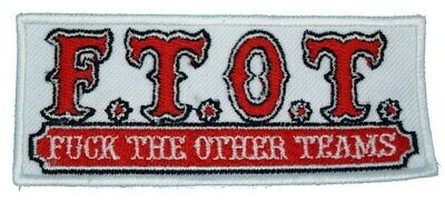 """HELLS ANGELS Support 81 Patch Aufnäher """"F.T.O.T."""" P02"""