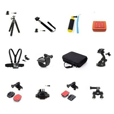 Accessories Kit for GoPro Hero 7/6/5/4 & 3 - 12 Mounts - Sold From Australia