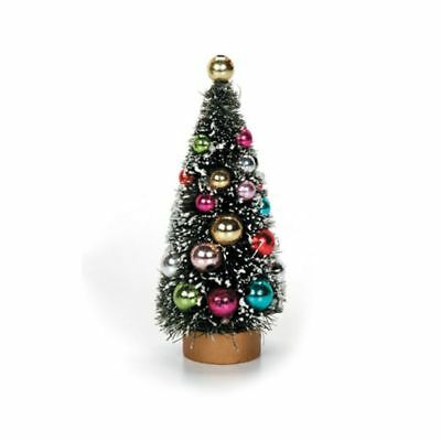 Dollhouse Miniature Christmas Holiday Green Sisal Tree with Ornaments