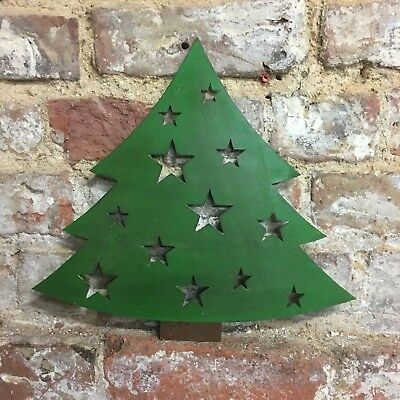 Rustic CHRISTMAS TREE Lettering Letters Sign Metal Shop Home decoration Ornament
