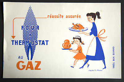 Buvard Publicitaire Ancien : Four A Thermostat Au Gaz - D'apres Fix-Masseau