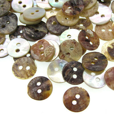 50/100/500 Natural Shell Buttons Mother of Pearl Round Button Accessories 11.5mm